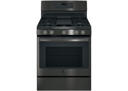 "GE 30"" Free Standing Black Stainless Steel Gas Convection Range - JGB700BEJTS"