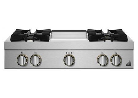 "JennAir RISE 36"" Stainless Steel Gas Rangetop - JGCP536HL"