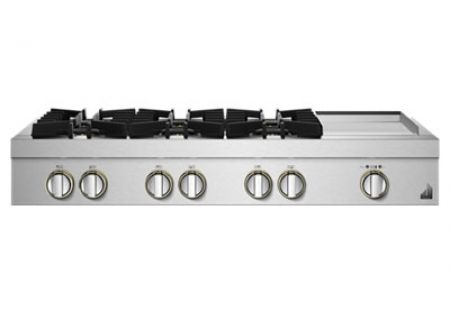 "JennAir RISE 48"" Stainless Steel Gas Rangetop - JGCP548HL"