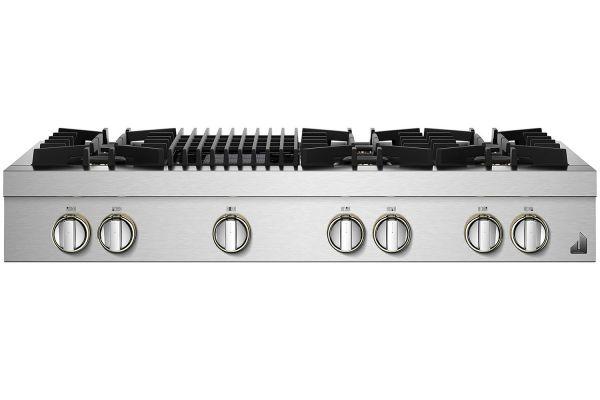 """Large image of JennAir RISE 48"""" Stainless Steel Gas Rangetop - JGCP648HL"""