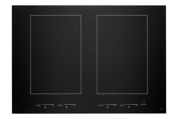 "Large image of JennAir Oblivian Glass 30"" Black Induction Flex Cooktop - JIC4730HB"