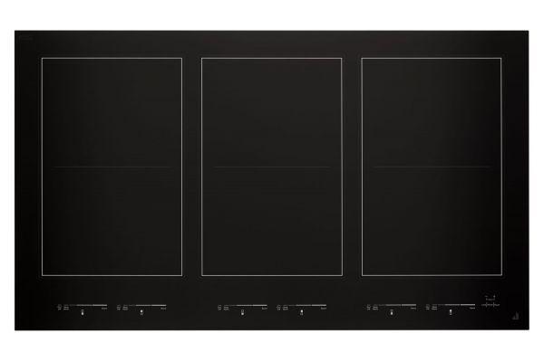 "Large image of JennAir Oblivian Glass 36"" Black Induction Flex Cooktop - JIC4736HB"