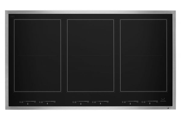 "Large image of JennAir Lustre 36"" Stainless Steel Induction Flex Cooktop - JIC4736HS"