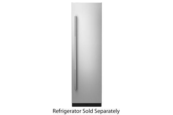 "Large image of JennAir RISE 24"" Built-In Column Refrigerator Stainless Steel Panel Kit - JKCPR241GL"