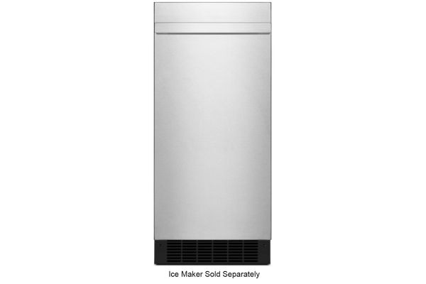 """Large image of JennAir NOIR 15"""" Stainless Steel Ice Maker Panel Kit - JKRPL151HM"""