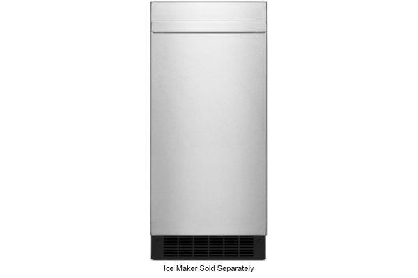 """Large image of JennAir NOIR 15"""" Stainless Steel Ice Maker Panel Kit - JKRPR151HM"""
