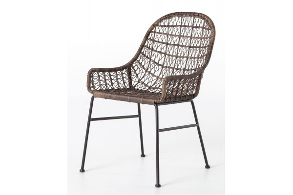 Large image of Four Hands Bandera Outdoor Low Arm Dining Chair - JLAN-130
