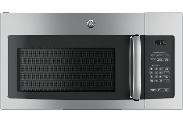 Large image of GE Stainless Steel Over-The-Range Microwave Oven - JNM3163RJSS