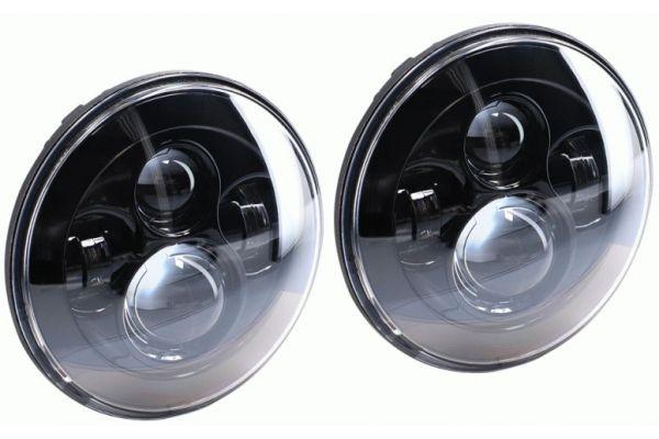 "Large image of Metra 7"" Black Jeep Round LED Headlights - JP-701B"