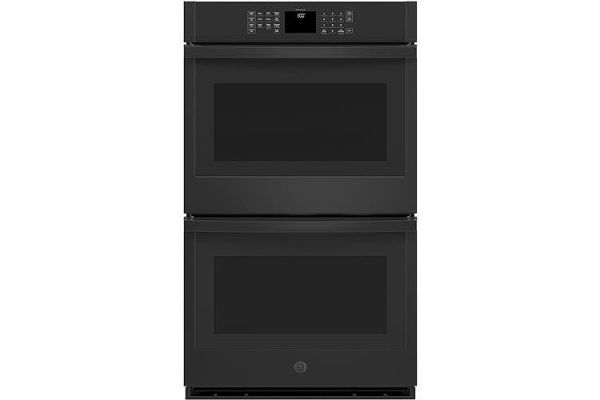 """Large image of GE 30"""" Black Built-In Double Wall Oven - JTD3000DNBB"""