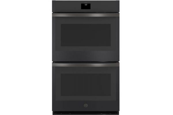 """Large image of GE 30"""" Black Slate Built-In Convection Double Wall Oven - JTD5000FNDS"""