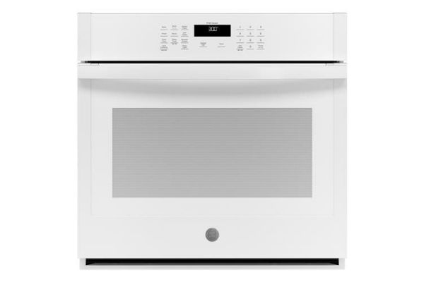 "Large image of GE 30"" White Built-In Single Wall Oven - JTS3000DNWW"