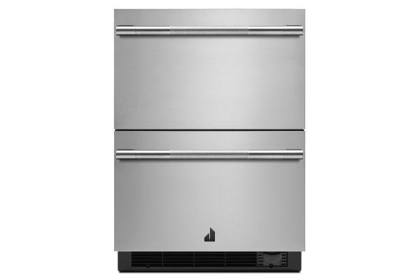 "JennAir RISE 24"" Stainless Steel Double Drawers Refrigerator/Freezer - JUCFP242HL"