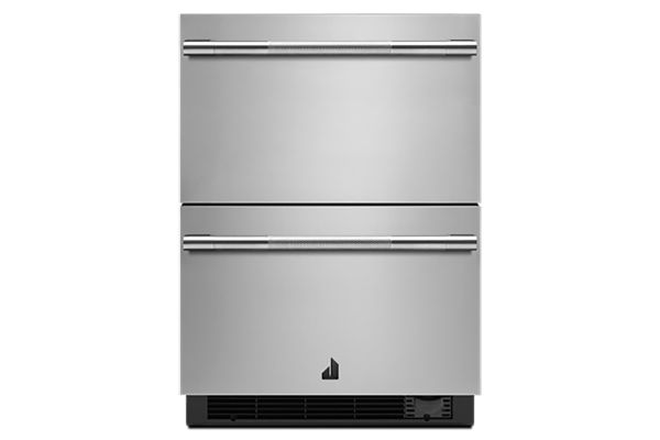 """Jenn-Air RISE 24"""" Stainless Steel Double Drawers Refrigerator/Freezer - JUCFP242HL"""