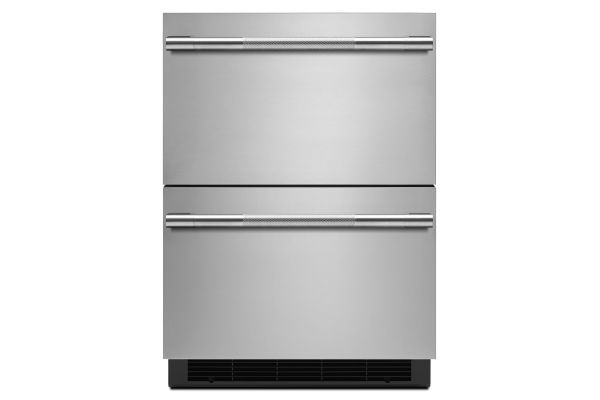 "JennAir RISE 24"" Stainless Steel Double-Refrigerator Drawers - JUDFP242HL"