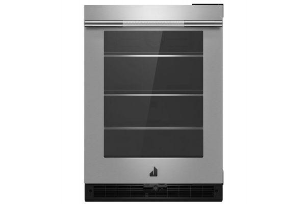 """JennAir RISE 24"""" Stainless Steel Undercounter Glass Door Refrigerator - JUGFR242HL"""
