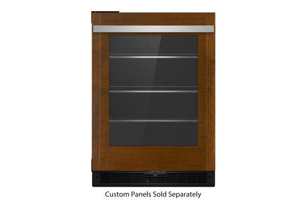 "Large image of JennAir 24"" Panel-Ready Glass Door Right-Hinge Undercounter Refrigerator - JUGFR242HX"