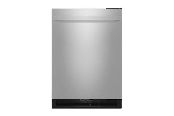 "JennAir NOIR 24"" Stainless Steel Undercounter Solid Door Refrigerator - JURFR242HM"
