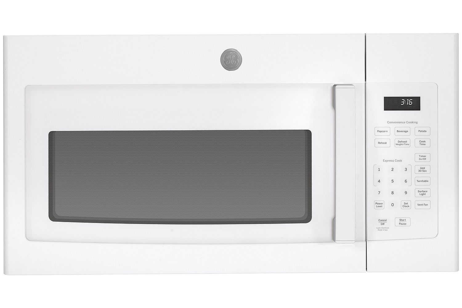 White Over The Range Microwave Oven