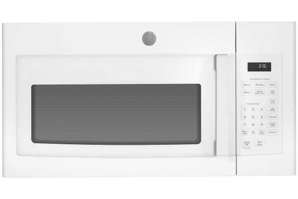 Large image of GE White Over-The-Range Microwave Oven - JVM3160DFWW