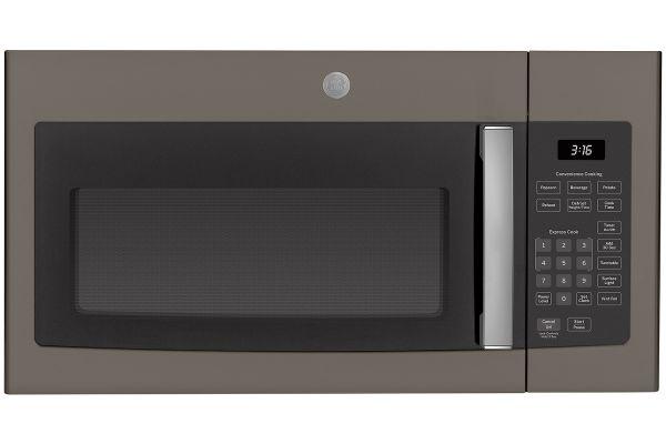 Large image of GE Slate Over-The-Range Microwave Oven - JVM3160EFES