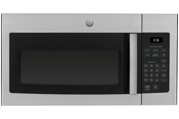 Large image of GE Stainless Steel Over-The-Range Microwave Oven - JVM3160RFSS