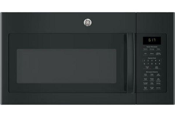Large image of GE 1.7 Cu. Ft. Black Over-The-Range Microwave Oven - JVM6175DKBB