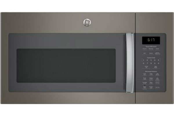 Large image of GE 1.7 Cu. Ft. Slate Over-The-Range Microwave Oven - JVM6175EKES