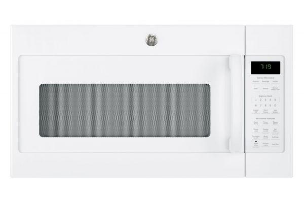 Large image of GE White Over-The-Range Sensor Microwave Oven - JVM7195DKWW
