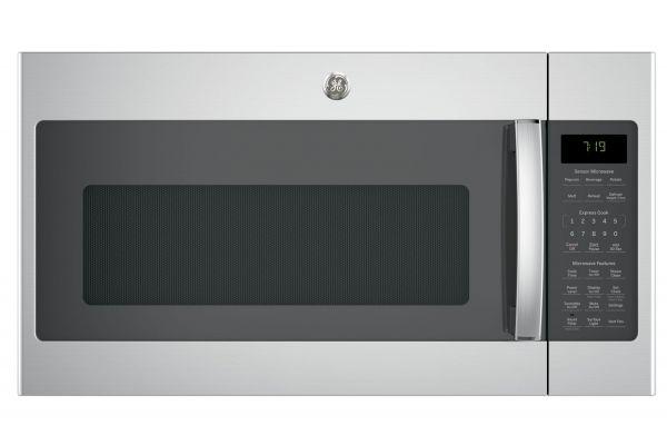 Large image of GE Stainless Steel Over-The-Range Sensor Microwave Oven - JVM7195SKSS