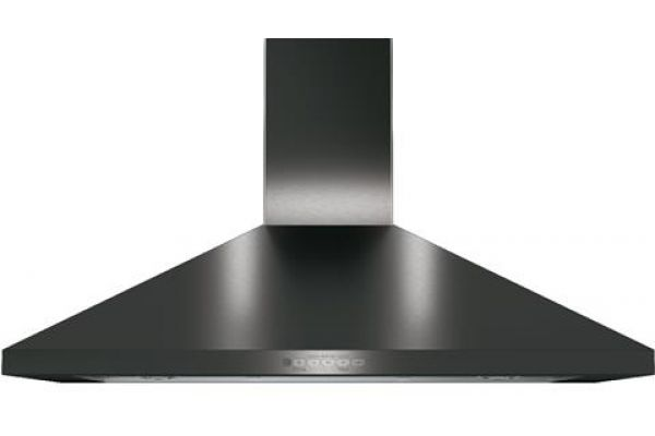 """GE 36"""" Black Stainless Steel Wall-Mount Pyramid Chimney Hood - JVW5361BJTS"""