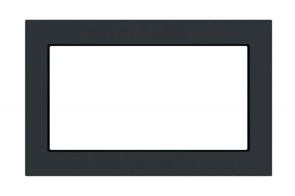 """Large image of GE 30"""" Black Slate Built-In Microwave Oven Trim Kit - JX7230FMDS"""