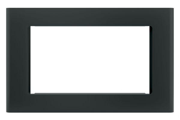 "Large image of GE Black 27"" Built-In Microwave Oven Trim Kit - JX9152DJBB"