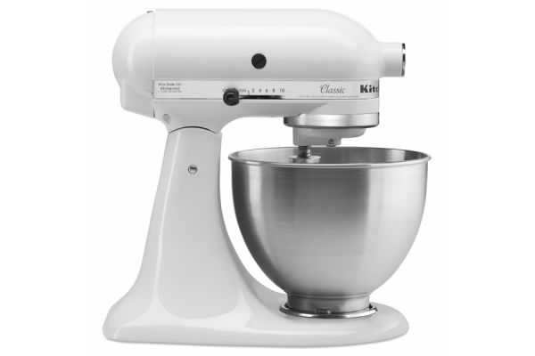 Large image of KitchenAid Classic Series White Stand Mixer - K45SSWH
