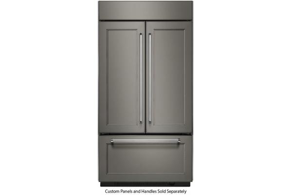 Large image of KitchenAid 20.8 Cu. Ft. Panel Ready Built-In French Door Refrigerator - KBFN506EPA