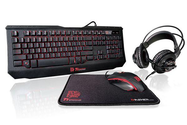 Thermaltake Tt Esports Knucker 4 in 1 Gaming Kit - KB-GCK-PLBLUS-01