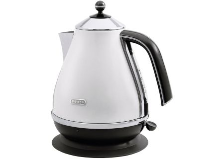 DeLonghi White Icona Water Kettle - KBO1401W