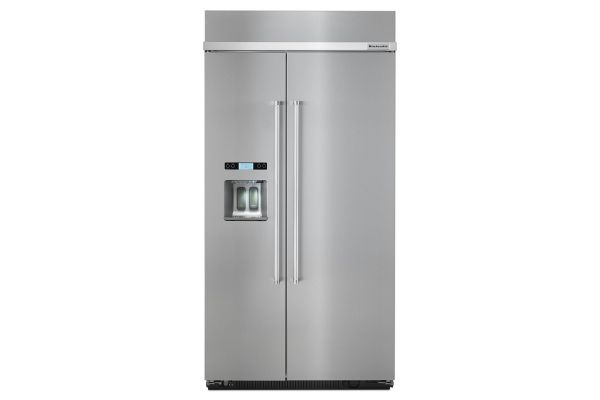 KitchenAid 25 Cu. Ft. Stainless Steel Built-In Side-By-Side Refrigerator - KBSD612ESS