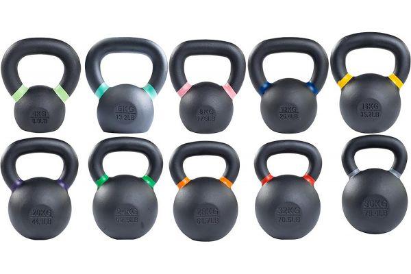Body-Solid 4-36kg. KBX Training Kettlebell Set - KBXS186