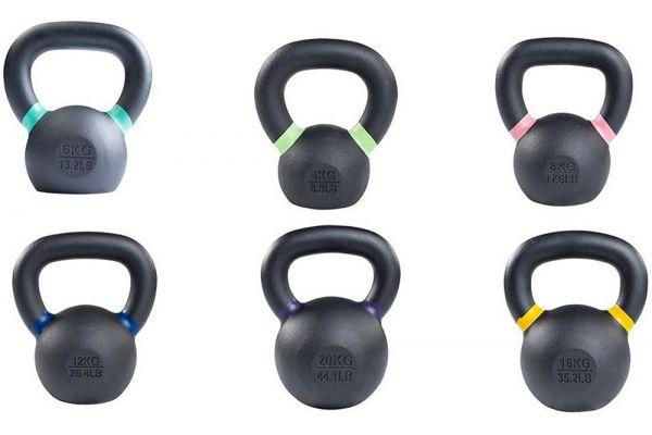 Body-Solid 4-20kg. KBX Training Kettlebell Set - KBXS66