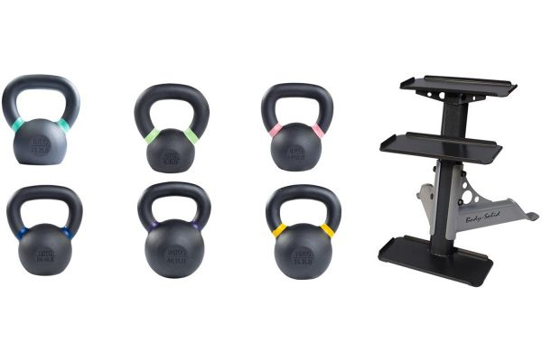 Body-Solid 4-20kg. KBX Training Kettlebell Set With Rack - KBXS66PACK