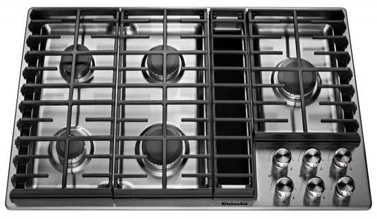Kitchenaid 36 Stainless Steel 5 Burner Gas Downdraft Cooktop Kcgd506gss