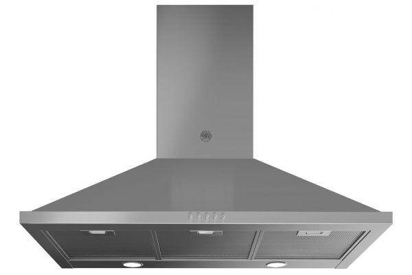 "Large image of Bertazzoni Master Series 36"" Stainless Steel Chimney Wall Hood - KCH36XV"