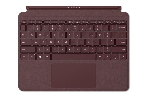 Large image of Microsoft Surface Go Burgundy Signature Type Cover - KCS-00041