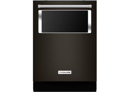 "KitchenAid 24"" Black Stainless Steel Built-In Dishwasher - KDTM384EBS"