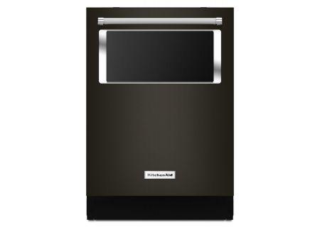 "KitchenAid 24"" Black Stainless Steel Built-In Dishwasher  - KDTM804EBS"