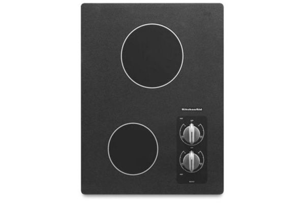 "Large image of KitchenAid 15"" Electric Cooktop Black - KECC056RBL"