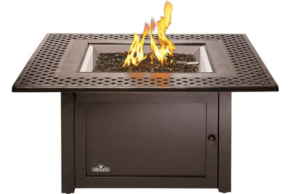 Large image of Napoleon Bronze Kensington Square Patioflame Table Liquid Propane Fireplace - KENS2-BZ-1