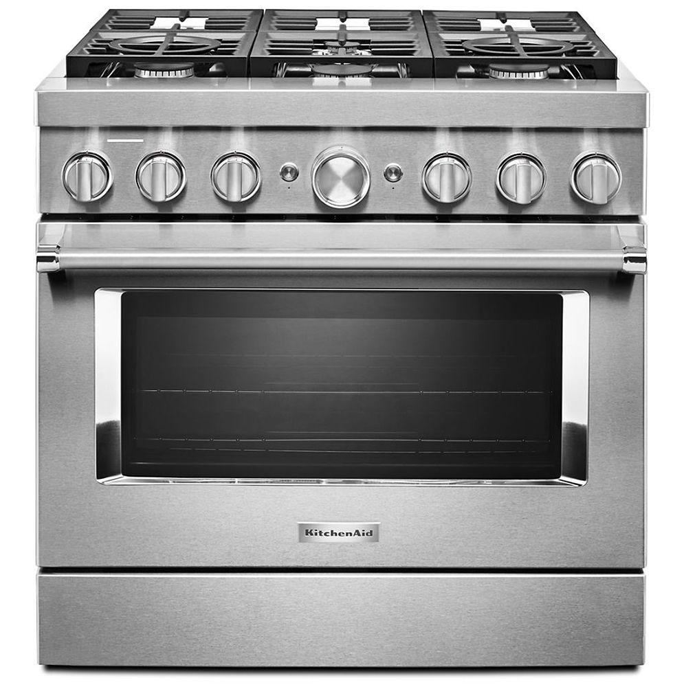 KitchenAid 36\'\' Smart Commercial-Style Dual Fuel Range