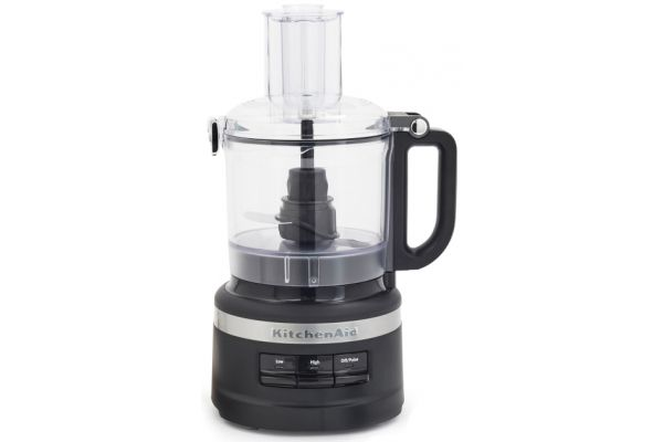 Large image of KitchenAid 7-Cup Matte Black Food Processor Plus - KFP0719BM